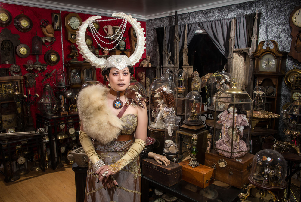 Ave Rose in her Museum Room