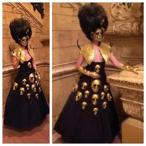 Golden Faces Gown